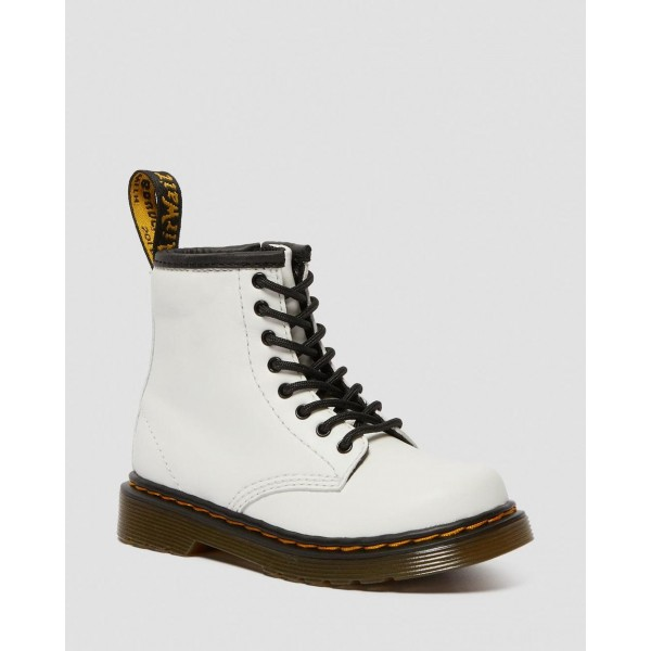 TODDLER 1460 LEATHER LACE UP BOOTS - WHITE ROMARIO