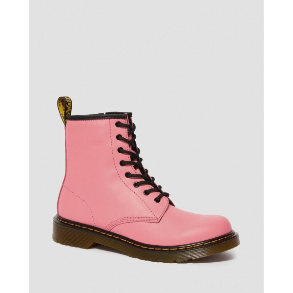 YOUTH 1460 LEATHER LACE UP BOOTS - ACID PINK ROMARIO
