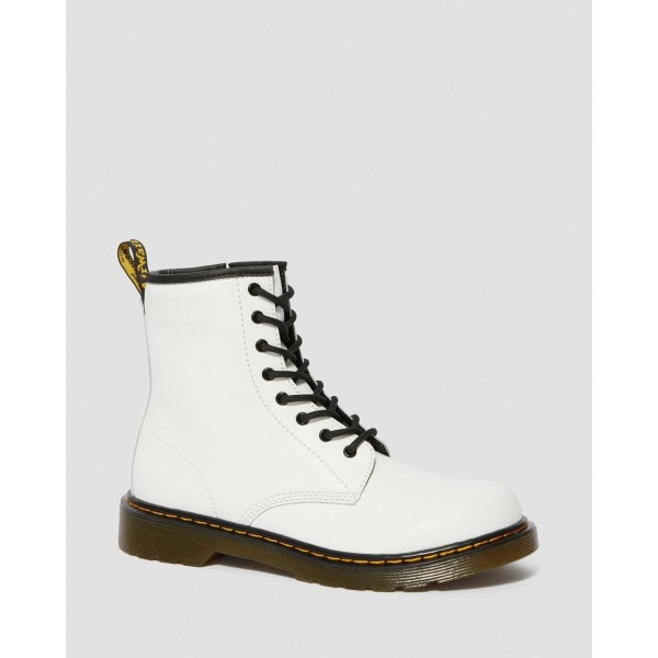 YOUTH 1460 LEATHER LACE UP BOOTS - WHITE ROMARIO