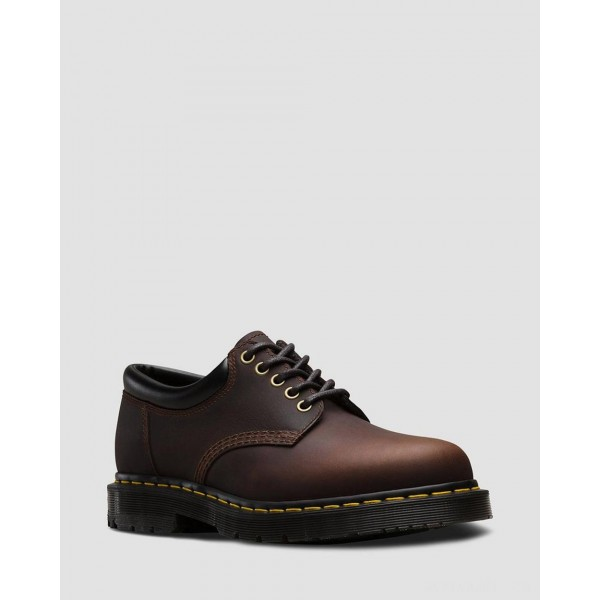 8053 DM'S WINTERGRIP LEATHER CASUAL SHOES - COCOA SNOWPLOW