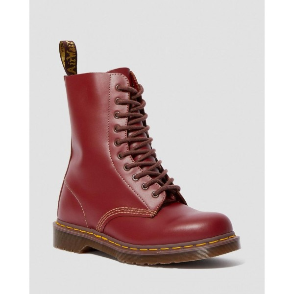 1490 VINTAGE MADE IN ENGLAND MID CALF BOOTS - OXBLOOD QUILON