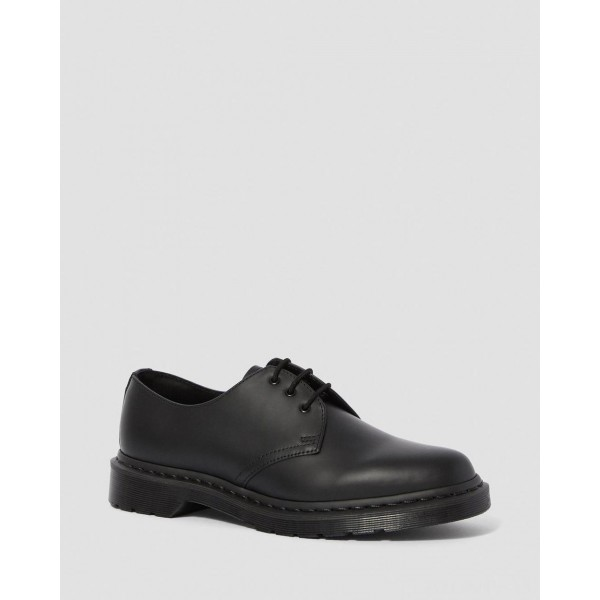 1461 MONO SMOOTH LEATHER OXFORD SHOES - BLACK SMOOTH